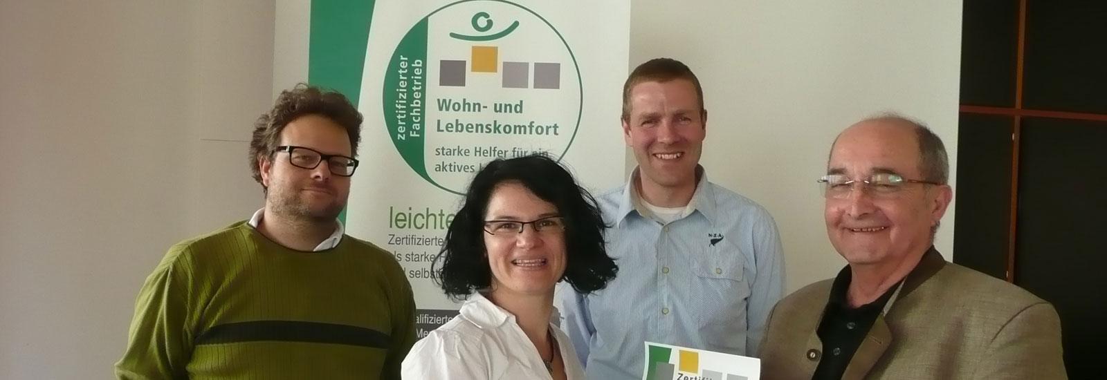 "Zertifizierter Fachbetrieb ""leichter leben"""